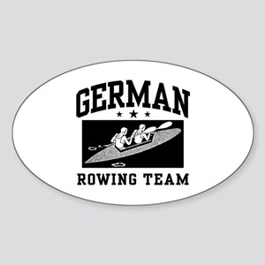 German Rowing Oval Sticker