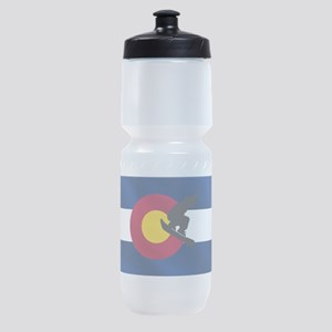 Colorado Snowboard Flag Sports Bottle