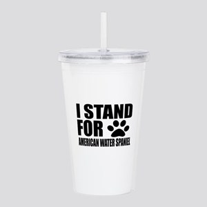 I Stand For American W Acrylic Double-wall Tumbler