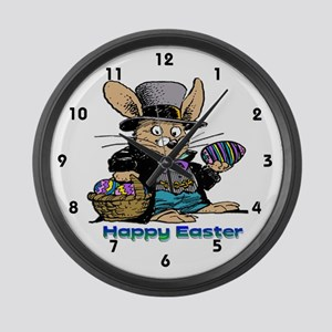 Grandpa Bunny Large Wall Clock
