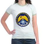 USS MOUNT HOOD Jr. Ringer T-Shirt