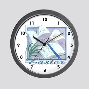 Easter Lilly Wall Clock