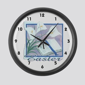 Easter Lilly Large Wall Clock