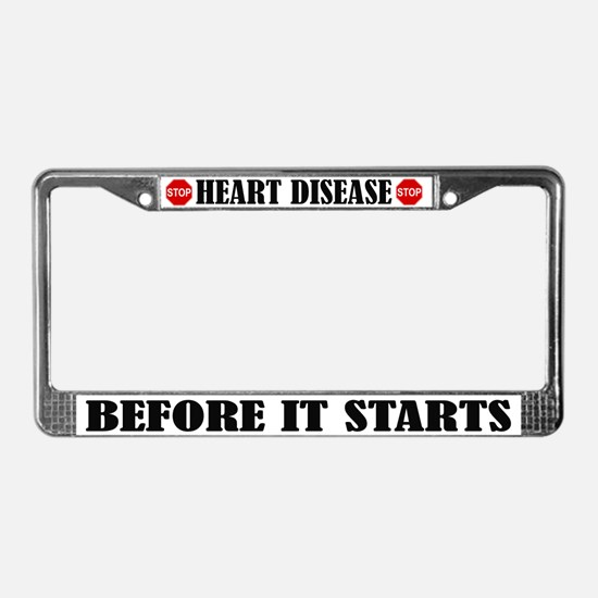 Stop Heart Disease License Plate Frame