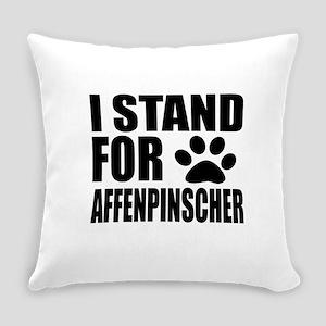 I Stand For Affenpinscher Dog Desi Everyday Pillow