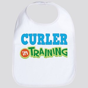 Curler in Training Baby Bib