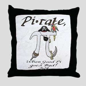 Pirate Pi Day Throw Pillow