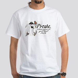 Pirate Pi Day White T-Shirt