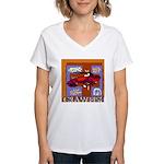 Crawfish Abstract Women's V-Neck T-Shirt