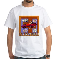 Crawfish Abstract White T-Shirt