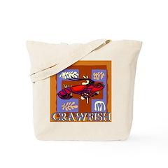 Crawfish Abstract Tote Bag