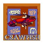 Crawfish Abstract Tile Coaster