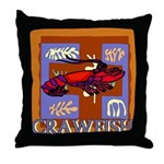 Crawfish Abstract Throw Pillow