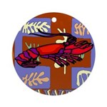 Crawfish Abstract Ornament (Round)