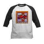 Crawfish Abstract Kids Baseball Jersey