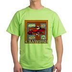 Crawfish Abstract Green T-Shirt