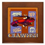Crawfish Abstract Framed Tile