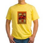 Crawfish Abstract Yellow T-Shirt