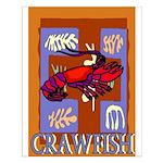 Crawfish Abstract Small Poster