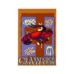 Crawfish Abstract Rectangle Magnet