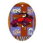 Crawfish Abstract Oval Ornament