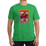 Crawfish Abstract Men's Fitted T-Shirt (dark)