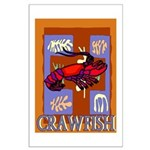 Crawfish Abstract Large Poster
