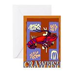 Crawfish Abstract Greeting Cards (Pk of 10)