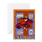 Crawfish Abstract Greeting Card