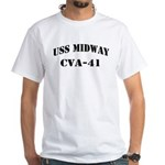 USS MIDWAY White T-Shirt