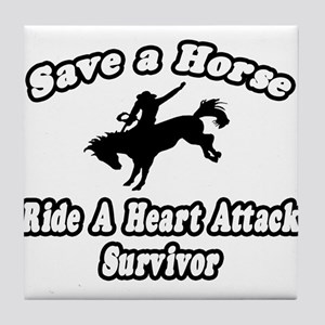"""Ride Heart Attack Survivor"" Tile Coaster"