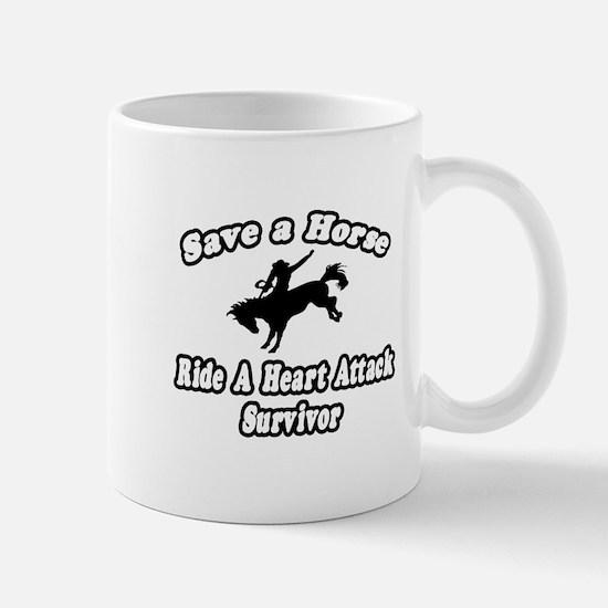 """""""Ride Heart Attack Survivor"""" Mug"""