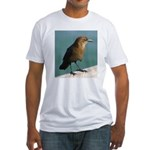 Brown Bird Fitted T-Shirt
