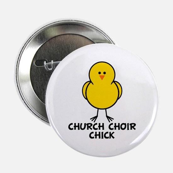 """Church Choir Chick 2.25"""" Button"""