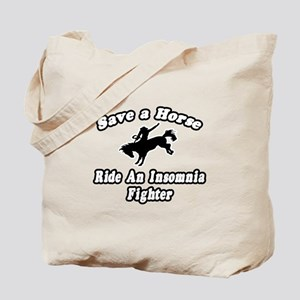 """Ride an Insomnia Fighter"" Tote Bag"