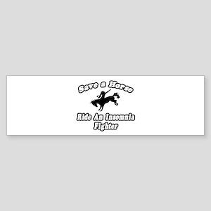 """Ride an Insomnia Fighter"" Bumper Sticker"