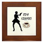 My Coffee Framed Tile