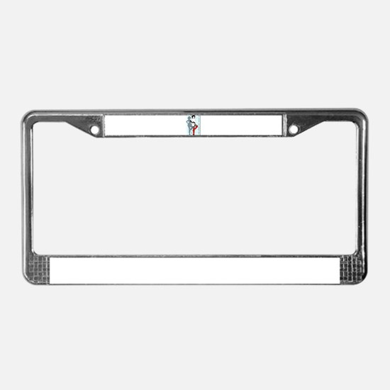 Blue Door License Plate Frame