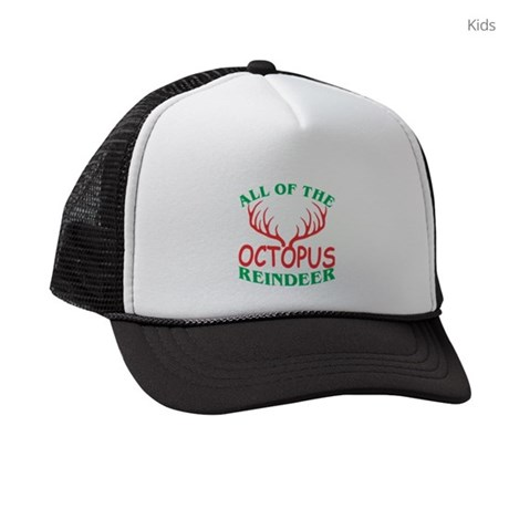 dabcc2a0 All Of The Octopus Reindeer Chris Kids Trucker hat by ADMIN_CP132542519