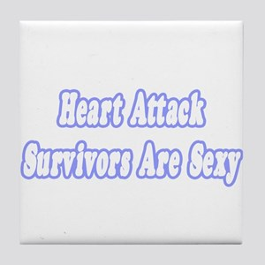 """Sexy Heart Attack Survivor"" Tile Coaster"