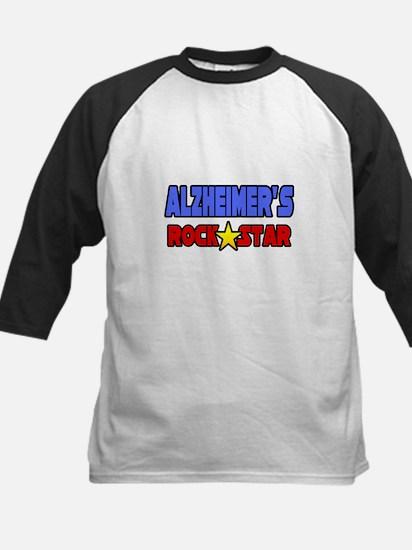 """""""Alzheimer's Rock Star"""" Kids Baseball Jersey"""