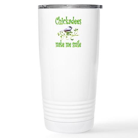 Chickadees Stainless Steel Travel Mug