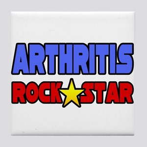 """Arthritis Rock Star"" Tile Coaster"