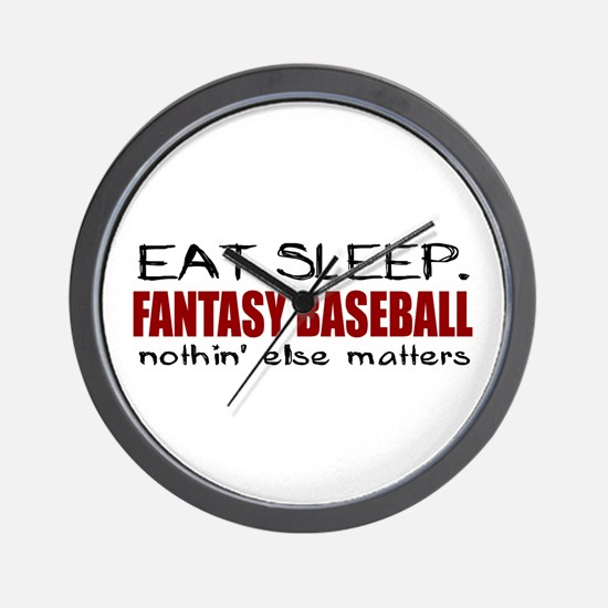 Eat Sleep Fantasy Baseball Wall Clock