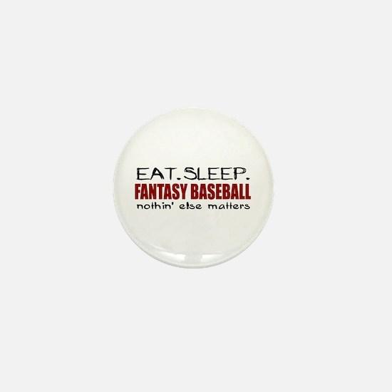 Eat Sleep Fantasy Baseball Mini Button