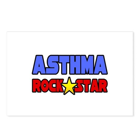 """""""Asthma Rock Star"""" Postcards (Package of 8)"""