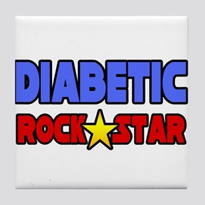 """Diabetic Rock Star"" Tile Coaster"