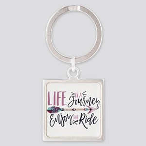 Life Is A journey Enjoy The Ride Keychains