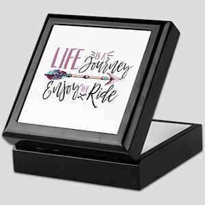Life Is A journey Enjoy The Ride Keepsake Box