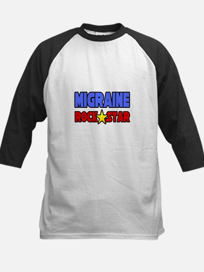"""Migraine Rock Star"" Kids Baseball Jersey"